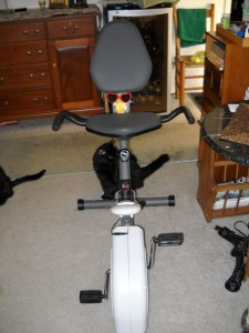 George on the Exercise Bike
