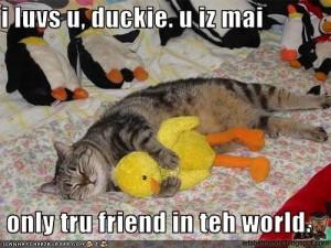 i luv su, duckie.