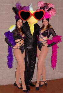 George with Showgirls