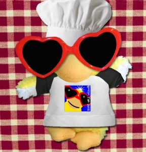 George the Duck the decorative chef