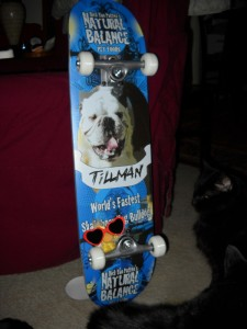 George with his Tillman Skateboard
