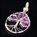 Tree of Life Pendant in Amethyst